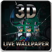 Broken Screen 3D Live Wallpaper