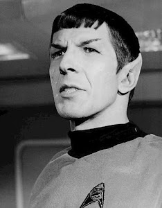 Leonard Nimoy as Spock, son of Sarek, circa 1967.