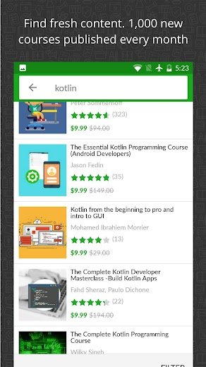 Screenshot 1 for Udemy's Android app'