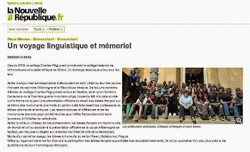 Photo: 2014-06-05 NR Un voyage linguistique et mémoriel