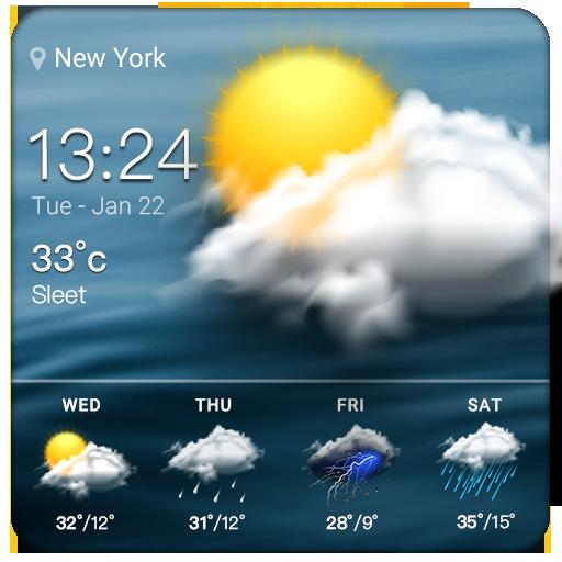 Clock & Weather - Cloud