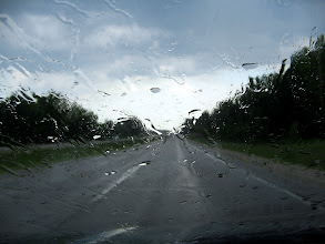Photo: Don't ask me, I just like it. Nothing but rain on the windshield. Sometimes things just, are what the are?