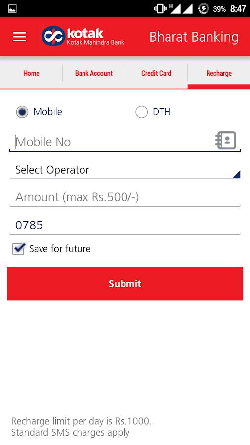 Sms Banking Kotak Mahindra Bank Autos Post
