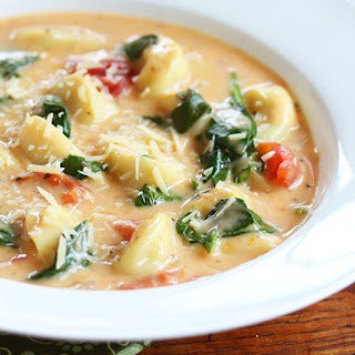 Cheesy Slow Cooker Tortellini Soup
