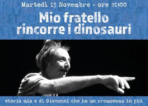 """Locandina """"Mio fratello rincorre i dinosauri"""""""