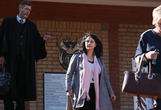 "Estate agent Vicki Momberg is ""on the run"" from police."