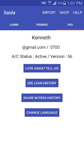 Saida - Loans to your M-Pesa screenshot 7