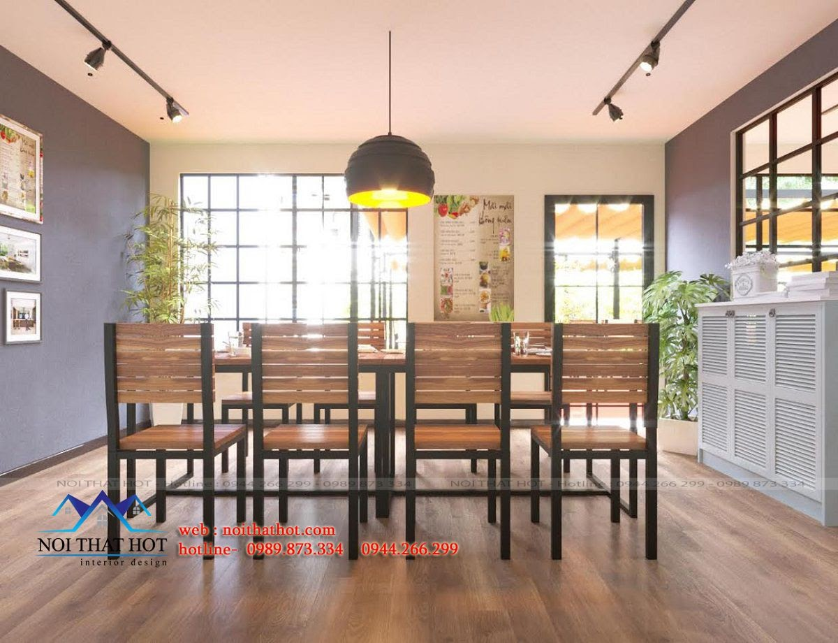 thiết kế nội thất nhà hàng, thiết kế nhà hàng