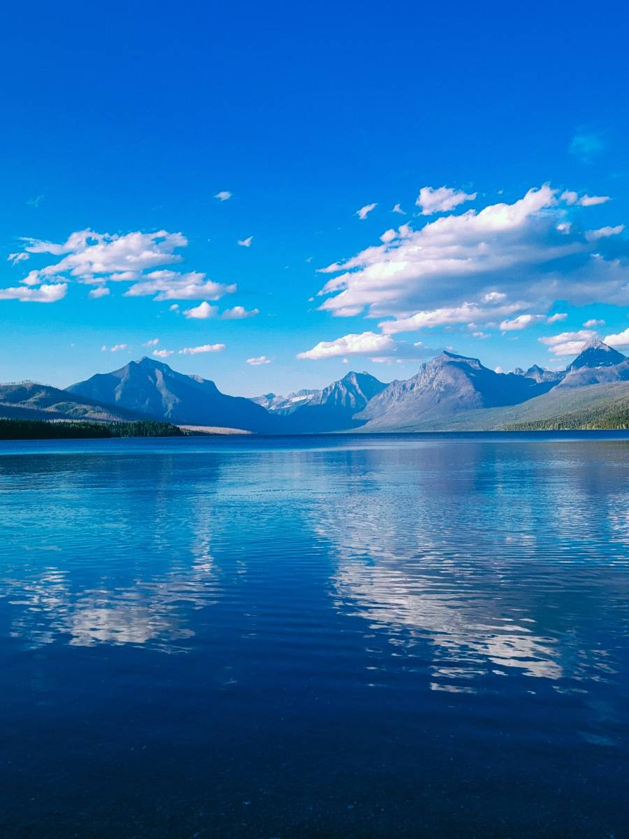 Lake Mcdonald and mountains in Glacier, one of the best national parks to visit in the summer