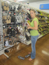 Photo: and checking out the deals on new sandals and flip flops