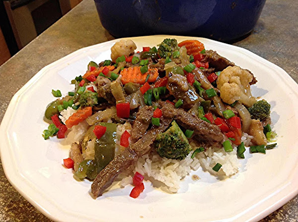 Roast Beef & Stir Fry Veggies Recipe