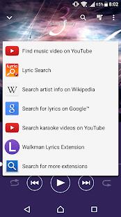 Walkman Lyrics Extension - náhled