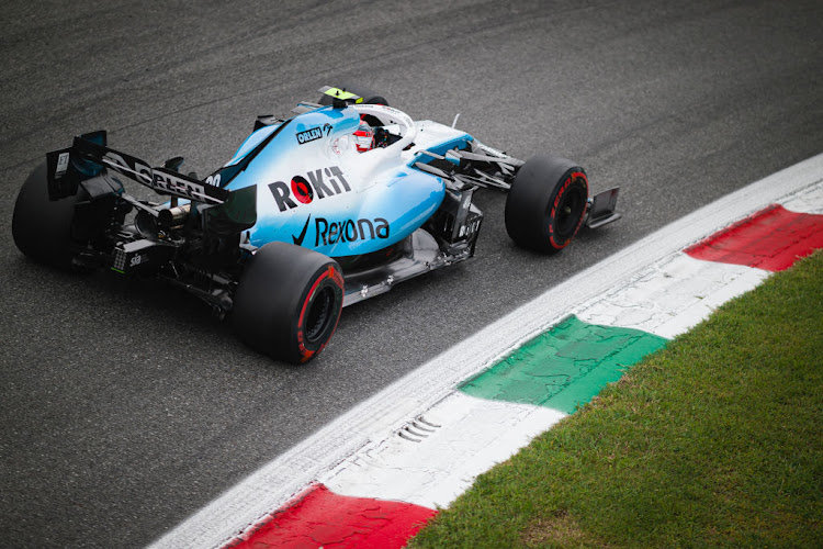 ROKiT Williams Racings Polish driver Robert Kubica competes during the third practice session of the Italian F1 Grand Prix at the Autodromo Nazionale di Monza.