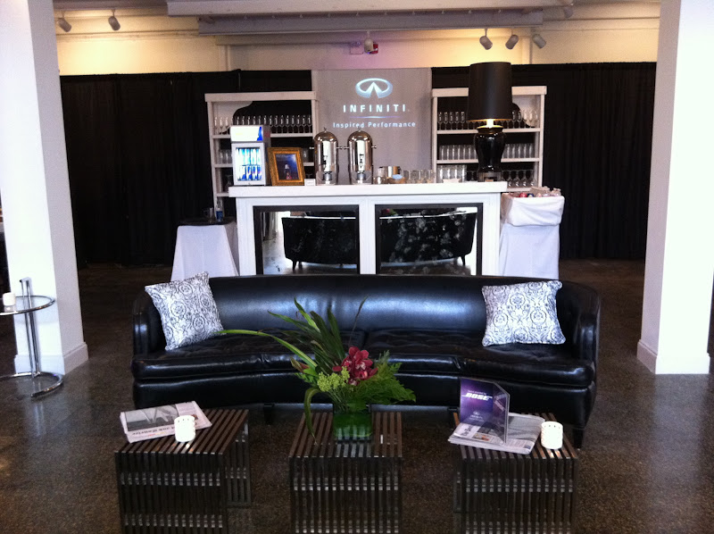 Photo: Gorgeous looking Infiniti bar with the Sidney Sofa so close to relax on with a drink in hand.