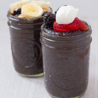 Dark Chocolate Oatmeal Pudding.