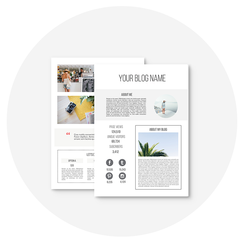 complete the form below to access your free media kit template