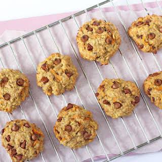 Healthy Carrot & Apple Breakfast Oat Cookies.
