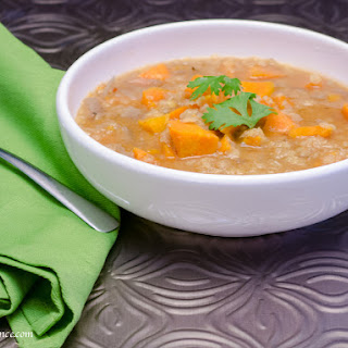 Sweet Potato and Lentil Soup for the Crockpot.