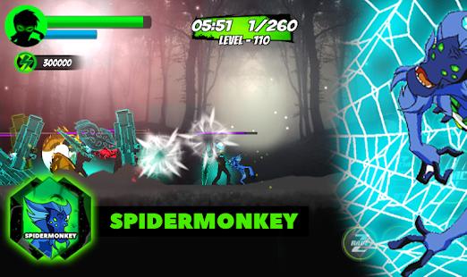 Ben Hero Fight 10x Power of Spider Monkey Alien - náhled