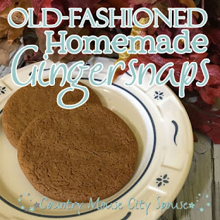 Old Fashioned Ginger Snaps.