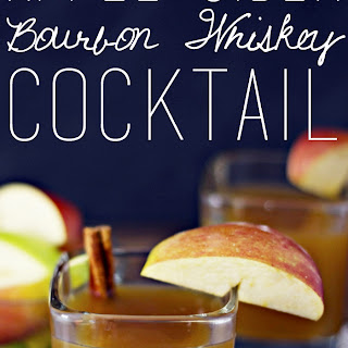 Apple Cider Bourbon Whiskey Cocktail.