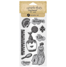 Graphic 45 Cling Stamps - Portrait Of A Lady 2 UTGÅENDE