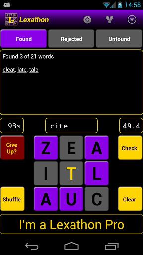 Lexathon® word jumble 2.9.8 screenshots 1