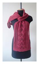 Photo: вязаный шарф зимняя вишня