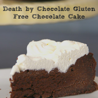 Death by Chocolate Gluten Free Chocolate Cake.