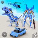 Dino Robot Car Game:Flying Robot transforming game icon