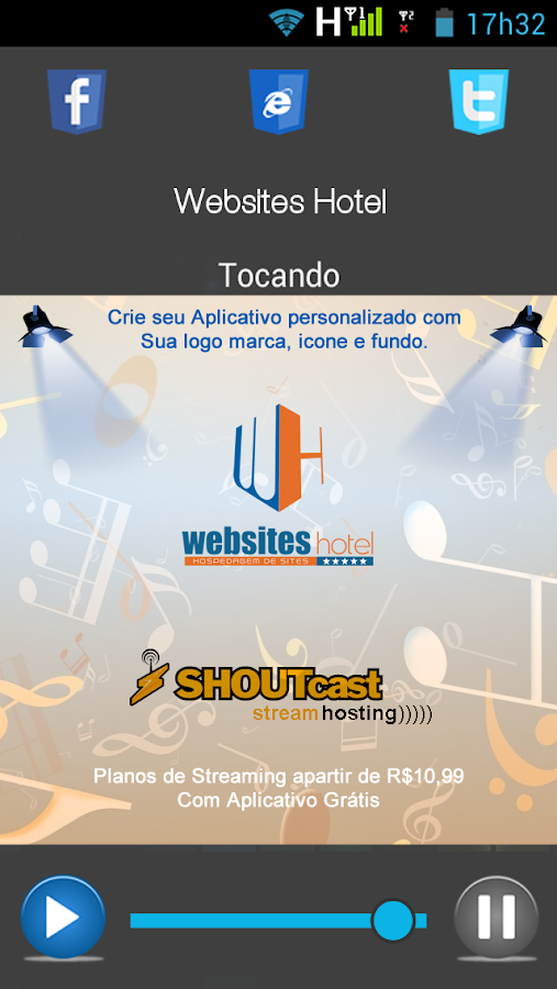 Websites Hotel - Web Rádio- screenshot
