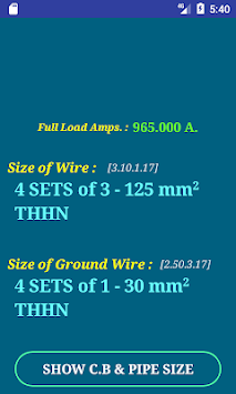 Download pec wire size calculator free apk latest version app for pec wire size calculator free poster greentooth Images