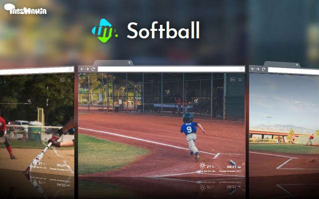 Softball Backgrounds & New Tab