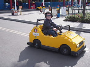 Photo: And this is the driving school for 6 to 13 year olds.  Do you know that Nicky drove better than most of the older kids out there?  He is such a good driver.