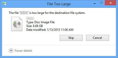 "[Solved] How to Fix ""The File is Too Large for the Destination File System"" Error"