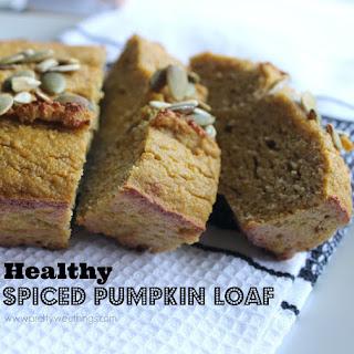 Healthy spiced pumpkin loaf (Gluten free, dairy free, refined sugar free)