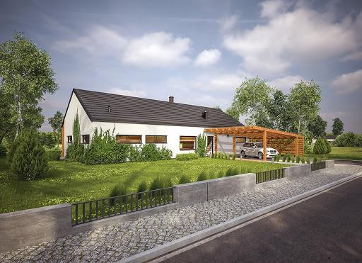 projekt Dom oszczędny - wariant I (z wentylacją mechaniczną) - EC317a