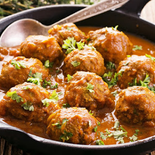Indian Style Meatball Curry.