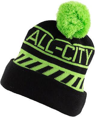 All-City Sleddin' Hat: Black/Lime Green alternate image 1