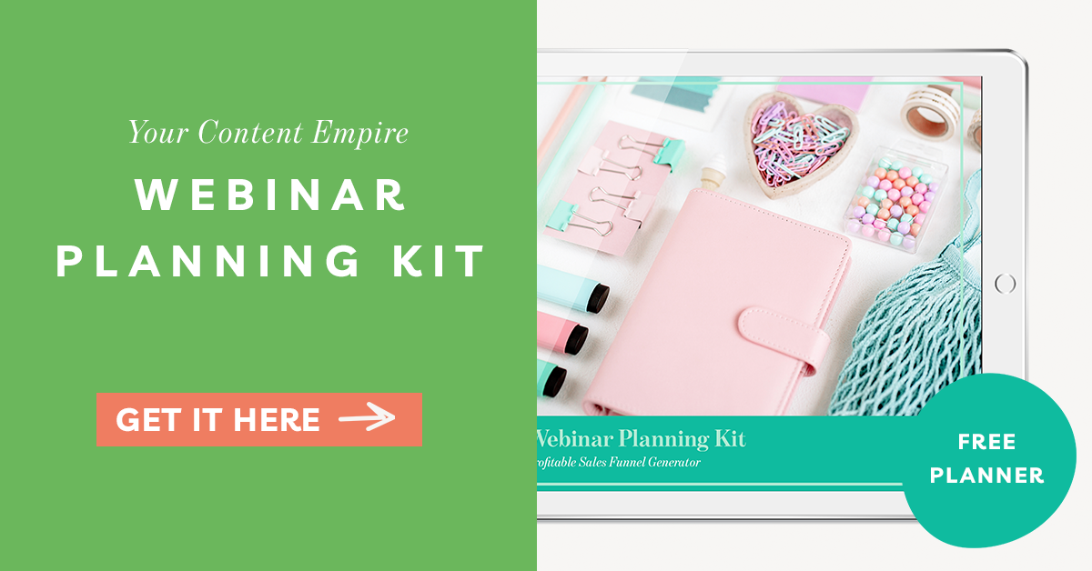 Webinar Planning Kit by Your Content Empire