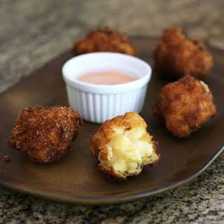 Macaroni and Cheese Fritters.