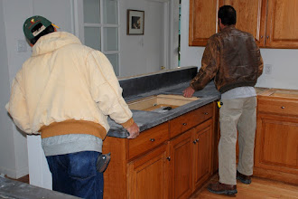 Photo: Corian (Earth) being installed.