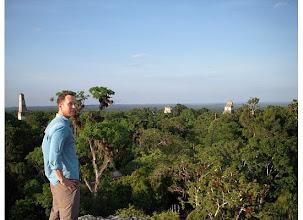 Photo: Standing on a pyramid at Tikal Guatemala.