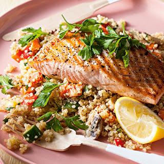 Salmon and Spicy Quinoa.