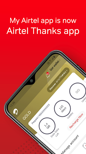 Airtel Thanks - Recharge, Bill Pay, Bank, Live TV android2mod screenshots 1