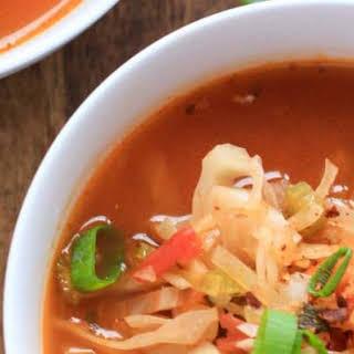 Vegan Detox Cabbage Tomato Soup.