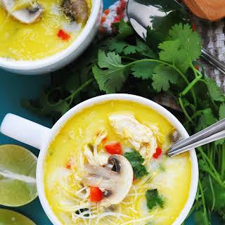 Gluten-free & Dairy-free Thai Coconut Noodle Soup.