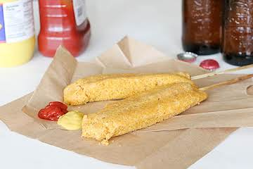 Oven Baked Corn Dogs (Weight Watchers)