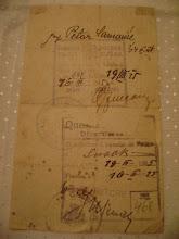 Photo: Dokumenti za prijelaz pograničnog mosta 1925g