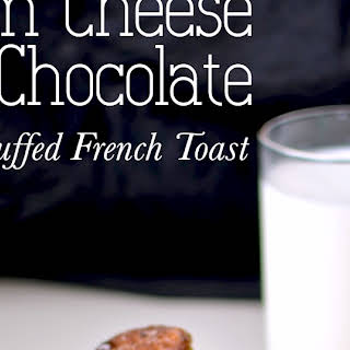 Cream Cheese and Chocolate Stuffed French Toast.